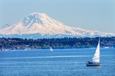 Mount Rainier Puget Sound No