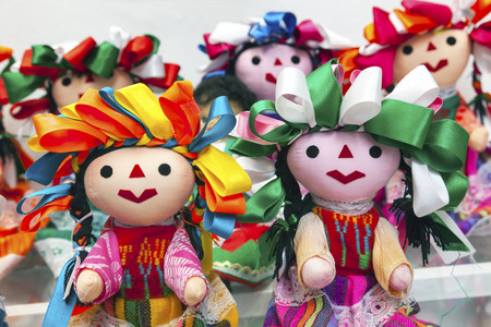 Colorful Lupita Dolls named after Guadalupe Mexico Souvenirs