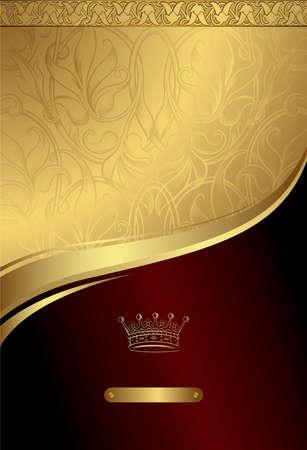 Illustration for Classic Royal Design Background 3 - Royalty Free Image