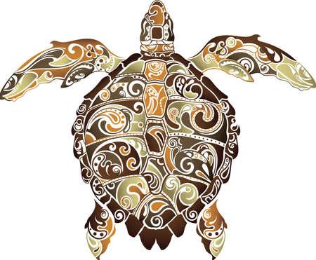 Illustration pour Abstract Turtle - image libre de droit