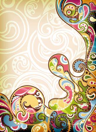 Illustration for Retro Background - Royalty Free Image