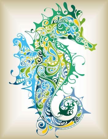 Illustration pour Abstract Seahorse - image libre de droit