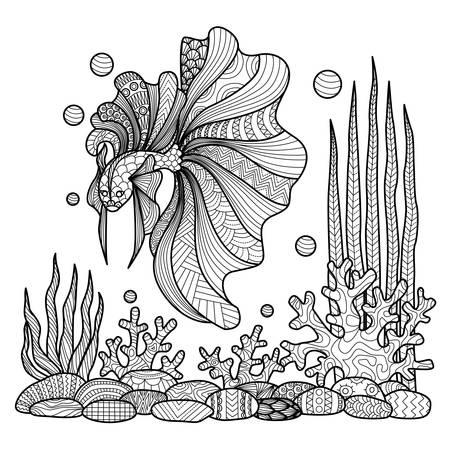 Fish Doodle Illustration
