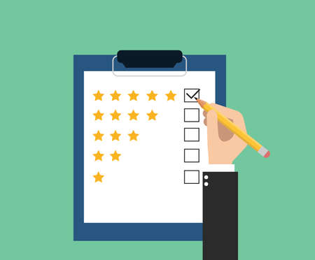 give rating on customer service