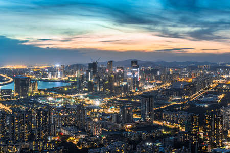 Photo pour Shenzhen Qianhai Free Trade Zone - image libre de droit