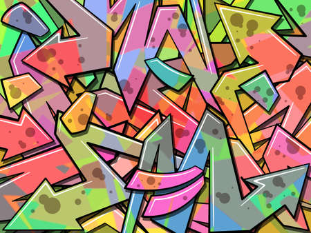 A Colorful Graffiti Background