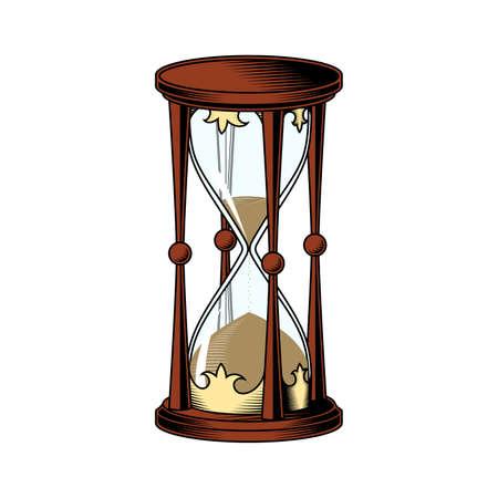 Illustration pour Hourglass on white background. Vector drawing. Color illustration. - image libre de droit