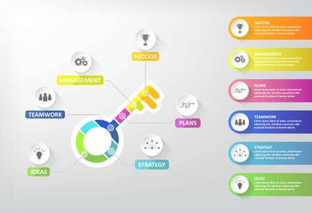 Illustration pour Key step to success of business,Vector illustration design,EPS10. - image libre de droit