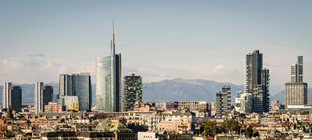 Milano (Italy), skyline with new skyscrapers