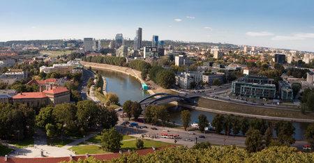 Capital of Lithuania, Vilnius panorama from Gediminas castle