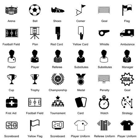 Ilustración de Soccer Icons set - Imagen libre de derechos