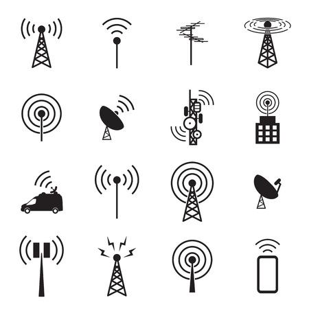 Illustration pour Antenna icon set - image libre de droit