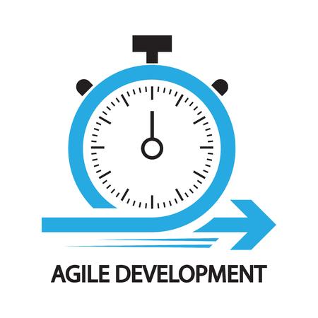 Illustration pour agile development,Stopwatch concept ,icon and symbol - image libre de droit