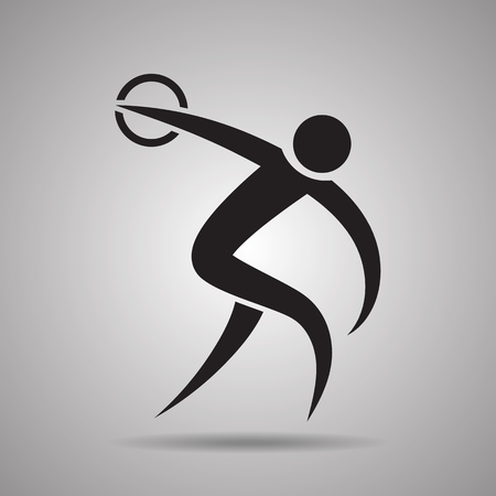 discus throw sport Icon and symbol