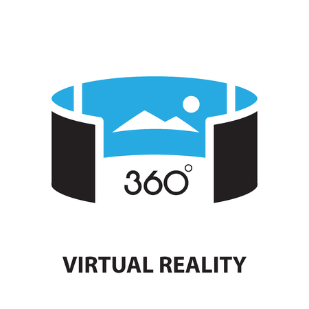 Illustration pour virtual reality ,icon and symbol - image libre de droit