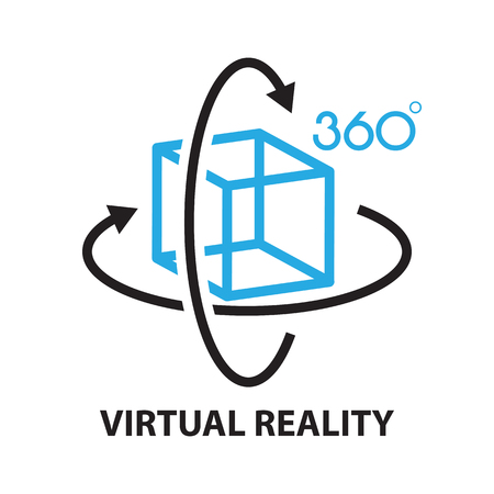 Illustration for virtual reality ,icon and symbol - Royalty Free Image