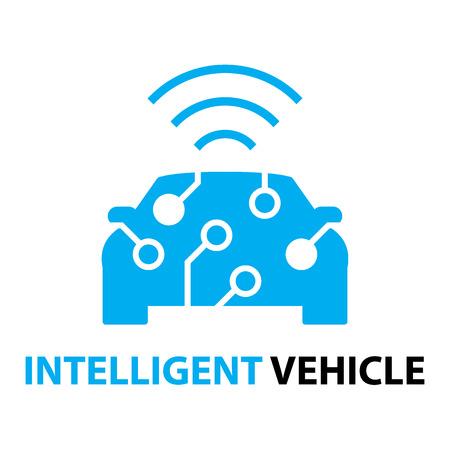Foto de smart car,Intelligent Vehicle icon and symbol - Imagen libre de derechos