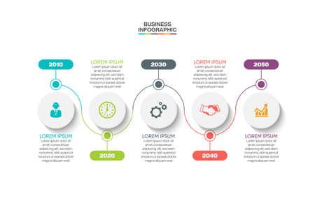 Illustration pour Business data visualization. timeline infographic icons designed for abstract background template milestone element modern diagram process technology digital marketing data presentation chart Vector - image libre de droit