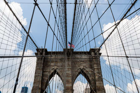 The Brooklyn Bridge is a bridge in New York City and is one of the oldest suspension bridges in the United States. Completed in 1883, it connects the boroughs of Manhattan and Brooklyn
