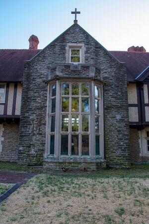 Photo pour A Large Ornamental Window at the Elkins House - image libre de droit