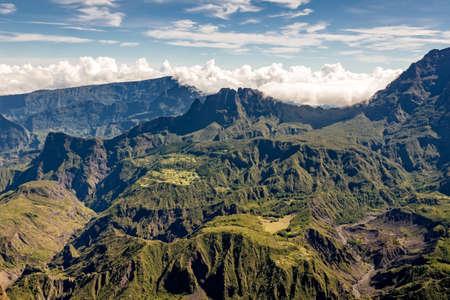 View of the Cirque de Mafate from the Maido, la Reunion island