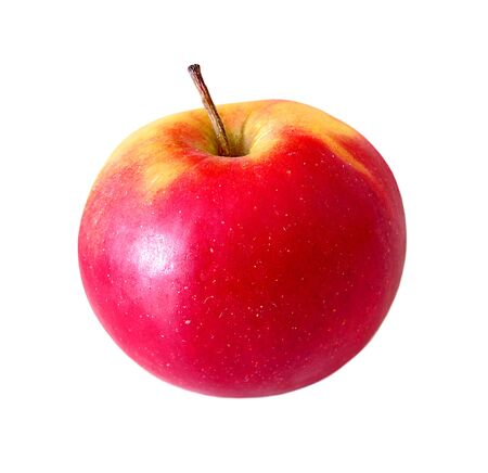 Photo for Ripe red apples isolated on a white background - Royalty Free Image