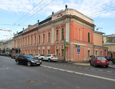 The building of the Russian Academy of Arts on Prechistenka street. Moscow, Russia