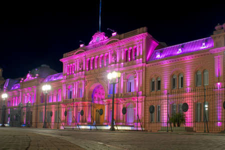 Presidential Palace of Argentina at night