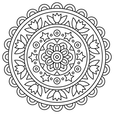 Illustration for Mandala. Coloring page. Vector illustration. - Royalty Free Image