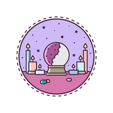 Illustration pour Crystal ball. Vector illustration. - image libre de droit