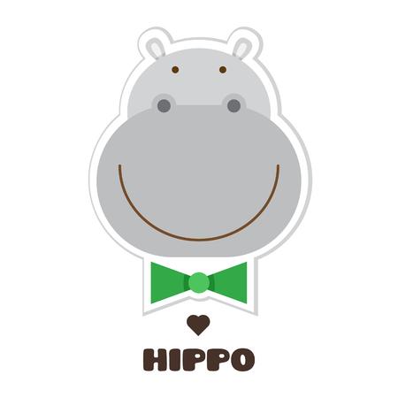 Ilustración de Hippopotamus graphic design in cartoon Illustration. - Imagen libre de derechos