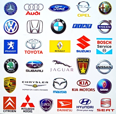 Logos of international carmakers