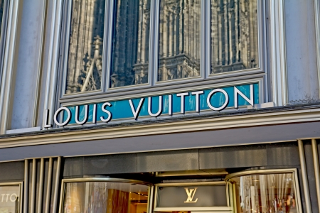 Cologne, Germany, August 23, 2012: Louis Vuitton Store near Cologne Cathedral