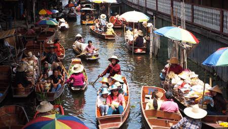 Damnean Saduak Floating Market Thailand