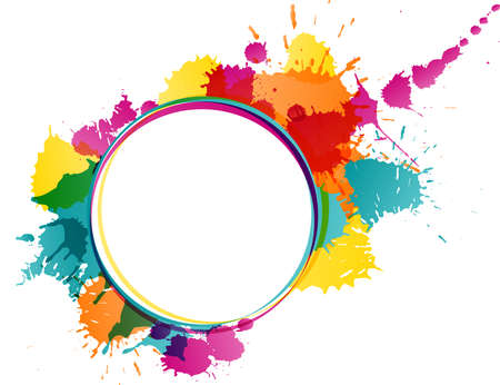 Colorful splatters template