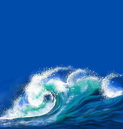Ilustración de Ocean wave - Imagen libre de derechos