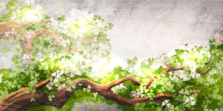 Illustration pour Magic tree branch - image libre de droit