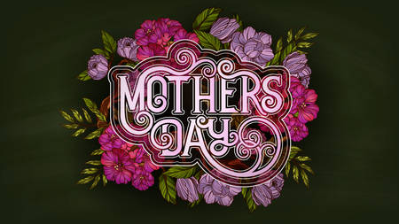 Illustration for Happy Mother's Day. Retro style poster template - Royalty Free Image