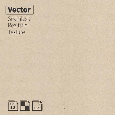 Illustration pour Vector seamless cardboard texture  Phototexture for your design - image libre de droit