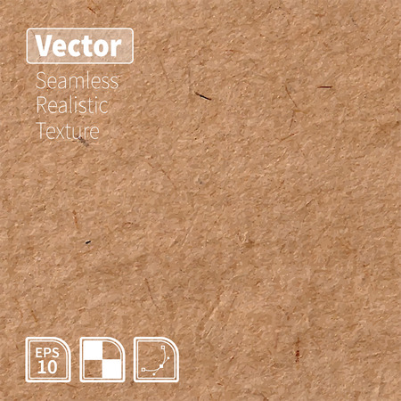 Illustration for Vector seamless brown rice paper photo texture. Background for your design. - Royalty Free Image