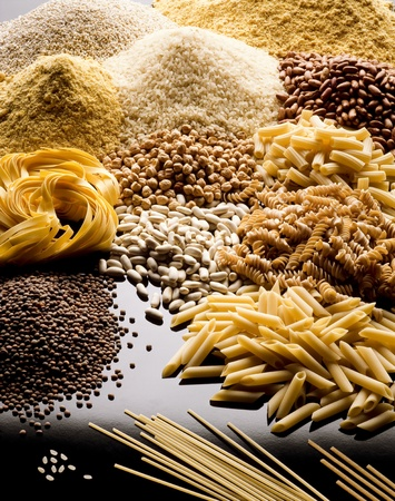 pasta rice cereals and legumes
