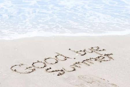 good bye summer on sand