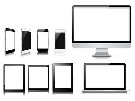 modern communication on white set