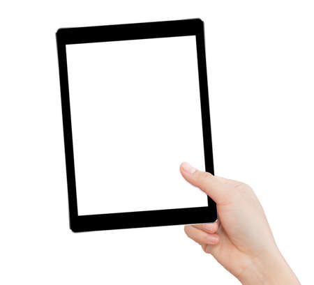 Photo for hand holding tablet - Royalty Free Image