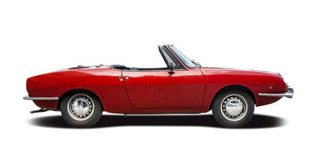 Photo for Classic Italian sport cabrio car side view isolated on white - Royalty Free Image