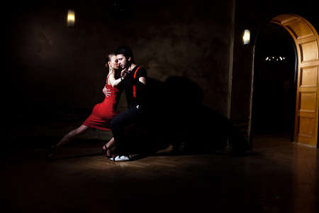 Beautiful dancers performing an argentinian tango. Please check similar images from my portfolio.