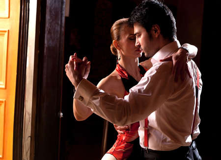 A man and a woman dancing argentinian tango. Please see more images from the same shoot.