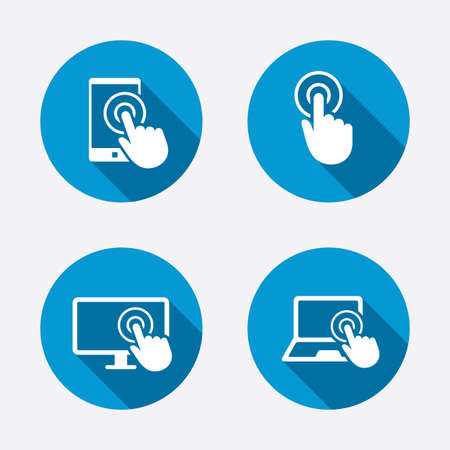 Touch screen smartphone icons
