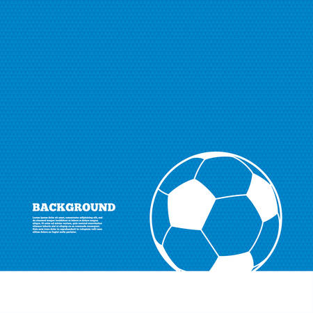 Background with seamless pattern. Football ball sign icon. Soccer Sport symbol. Triangles texture. Vector