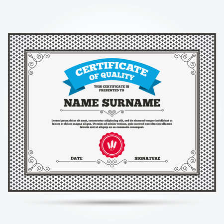 Certificate of quality  Agricultural sign icon  Gluten free